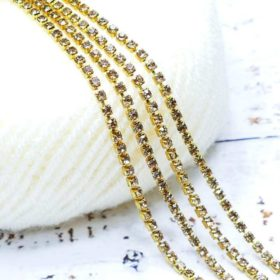 Stone Chain Gold - Small