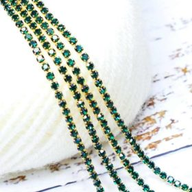 Stone Chain Dark Green- Small