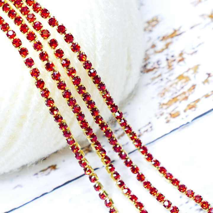 Stone Chain Red - Small