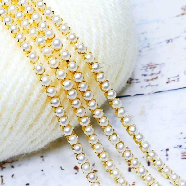 Pearl Chain White - Large