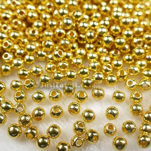 Gold Metal Ball 5mm (Small Hole)