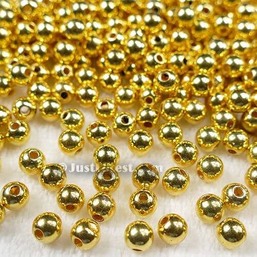 Gold Metal Ball 6mm (Small Hole)