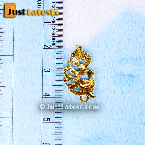 Antique Gold Peacock Stud