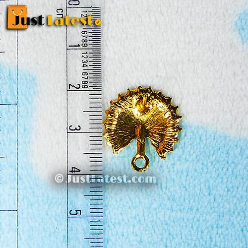 Antique Gold Peacock With Feathers