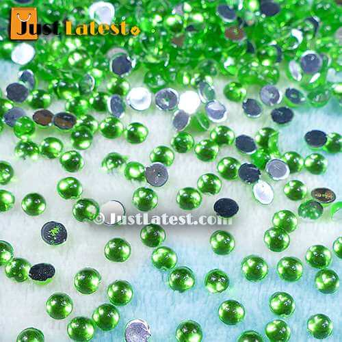 Kundan Stone Round 4mm Light Green