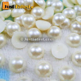 Pearl Beads - Half Cut Round - 12mm