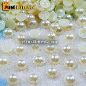 Pearl Beads - Half Cut Round - 6mm