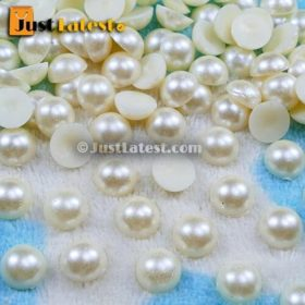Pearl Beads - Half Cut Round - 8mm