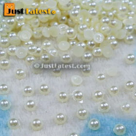 Pearl Beads - Half Cut Round - 3mm