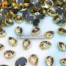 Kundan Stones Drop Shape 86MM (Gold Stone)