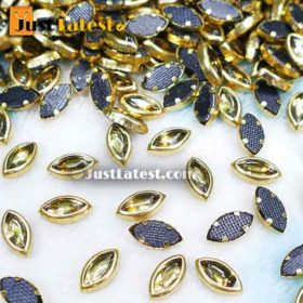 Kundan Stones Eye Shape 85MM (Gold Stone)